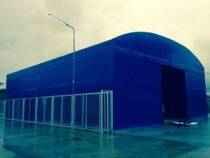 ผลงานการติดตั้ง เต็นท์ warehouse เต็นท์เก็บสินค้า เต็นท์ผ้าใบโกดังขนาดใหญ่