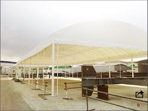 เต็นท์โกดัง เต็นเก็บสินค้า เต็นท์ Warehouse tent เต็นท์ขนาดใหญ่ 6